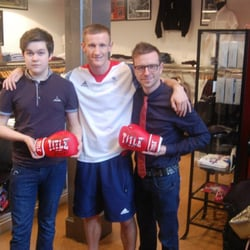 Olympic Boxer Thomas Stalker in store.