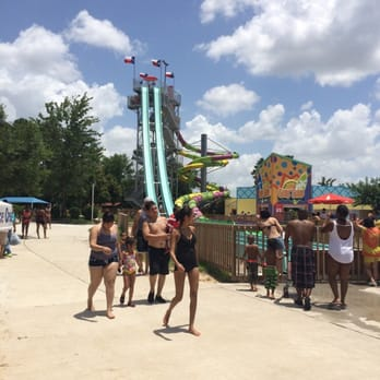texas freefall water slide