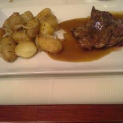 Le Grand Café des Capucines - Paris, France. Veal and potatoes