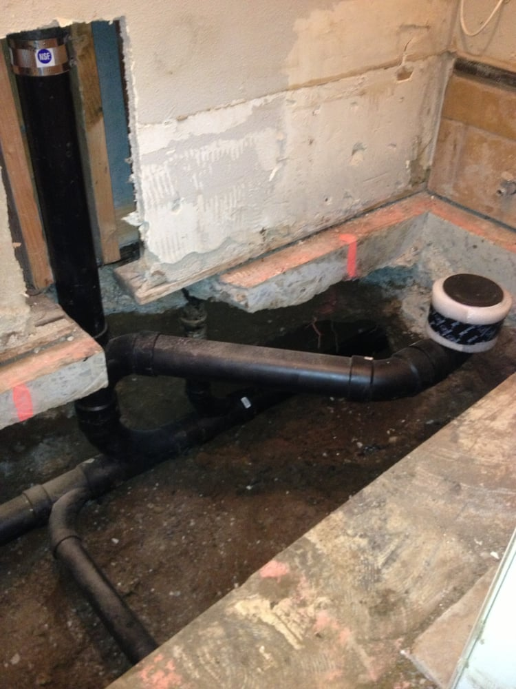Mainline  Toilet Drain  Vent Stack And Sink Drain