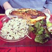 Crumble de saumon sur sa fondue de…