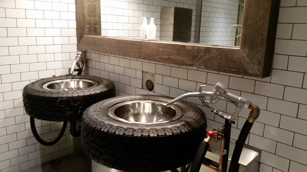 ... Truck Beer Company - Vancouver, BC, Canada. The sinks in the washroom