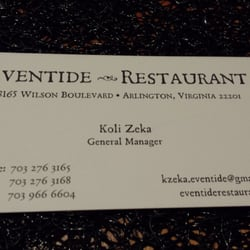 Eventide Restaurant logo
