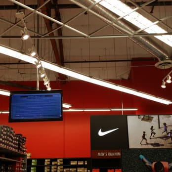 sports authority we installed all the lighting and flat screen tv