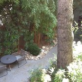 Beautiful garden where you have petite dejeuner