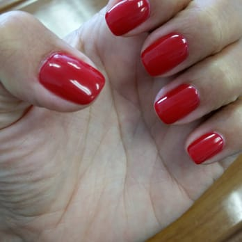 Gel manicure! Red Hot Rio Opi
