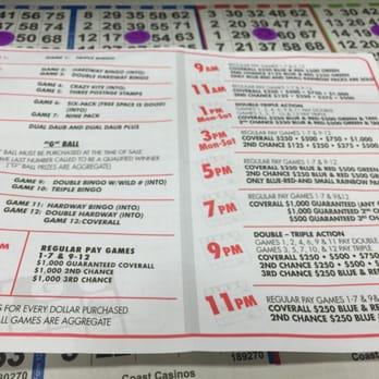 gold coast casino bingo cost