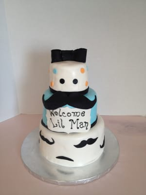 ... Cakes - Mustache Baby Shower cake - Largo, FL, United States