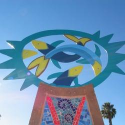 Oceanlife, Sun & Waves - Mosaic sculptures - Oceanlife (detail) - San Diego, CA, Vereinigte Staaten