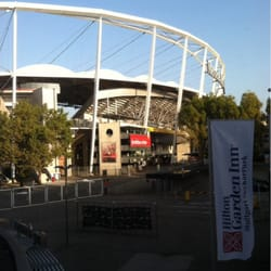 Right across from the Mercedes stadium!