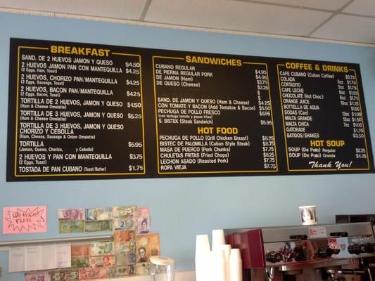 Michael S Cafe Fort Lauderdale Menu