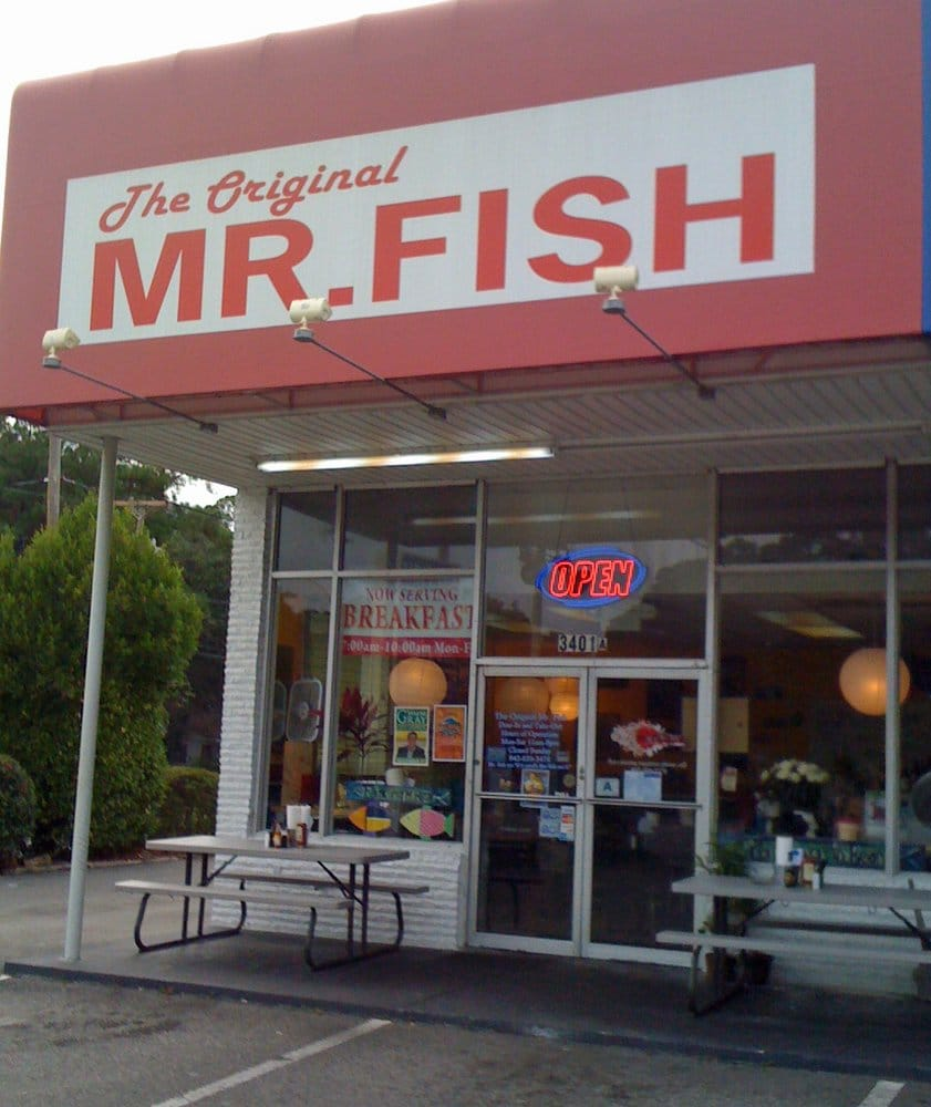 The exterior yelp for Mr fish seafood restaurant myrtle beach sc