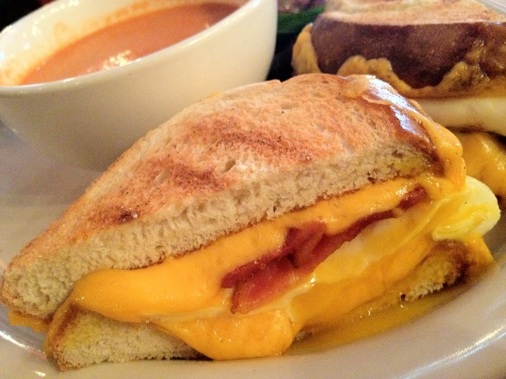 ... Bacon Grilled Cheese Sandwich w/ Bacon, Cheddar Cheese & Fried Egg ($7