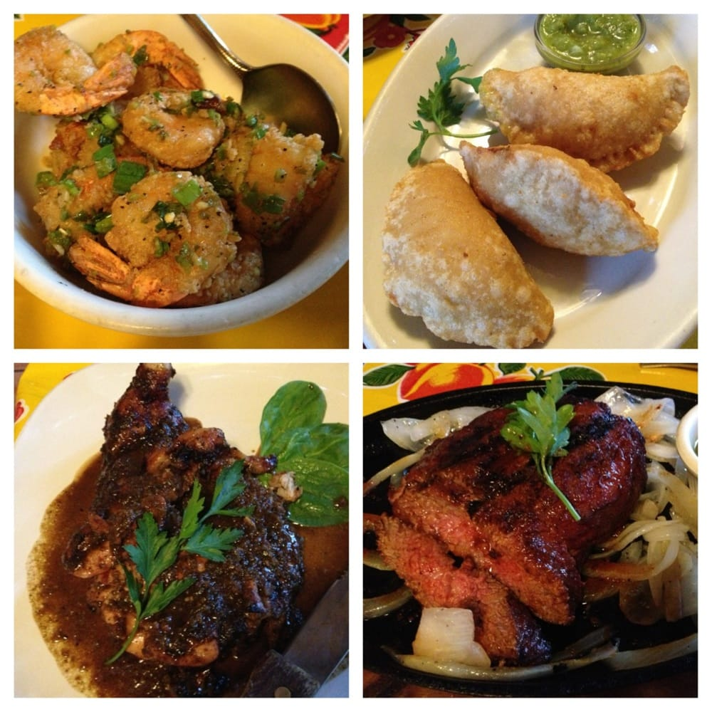 ... shrimp, cheese& corn empanadas, jerk chicken, chimichurri Tri-tip
