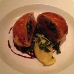 Quail Wellington (my name for it) with Champ & Brussels Sprout and it was divine :-))