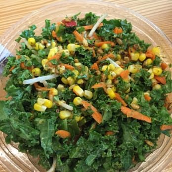 ... Kale, mesclun, sprouts, roasted vegetable corn, carrots, spicy