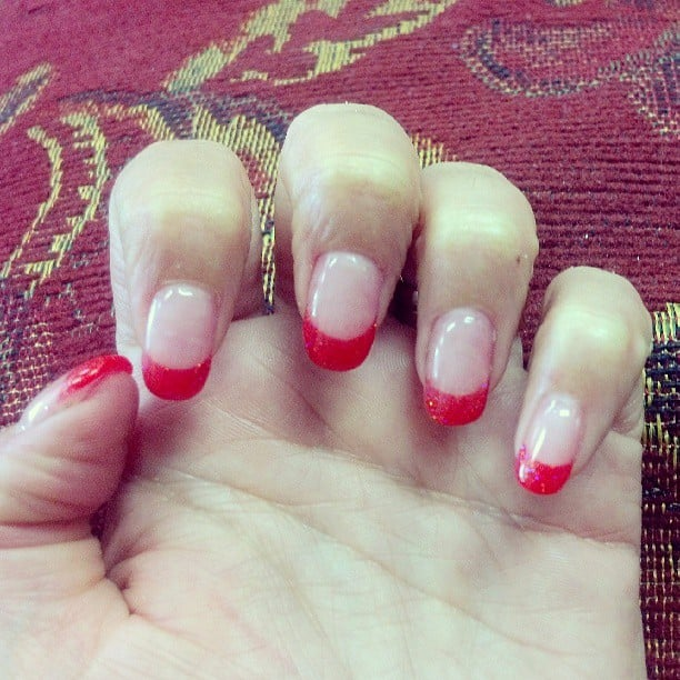 oval and Ruby Red tips for a HOT Summer! - El Cajon, CA, United States