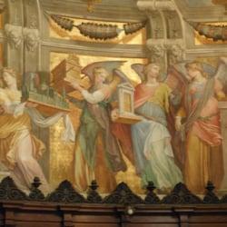 Art behind main altar