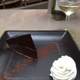 Chocolate tart is delicious! Very rich.