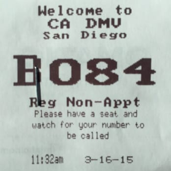 Dmv departments of motor vehicles san diego ca yelp for Motor vehicle ticket payment
