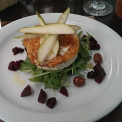 Goat cheese salad with pears and…