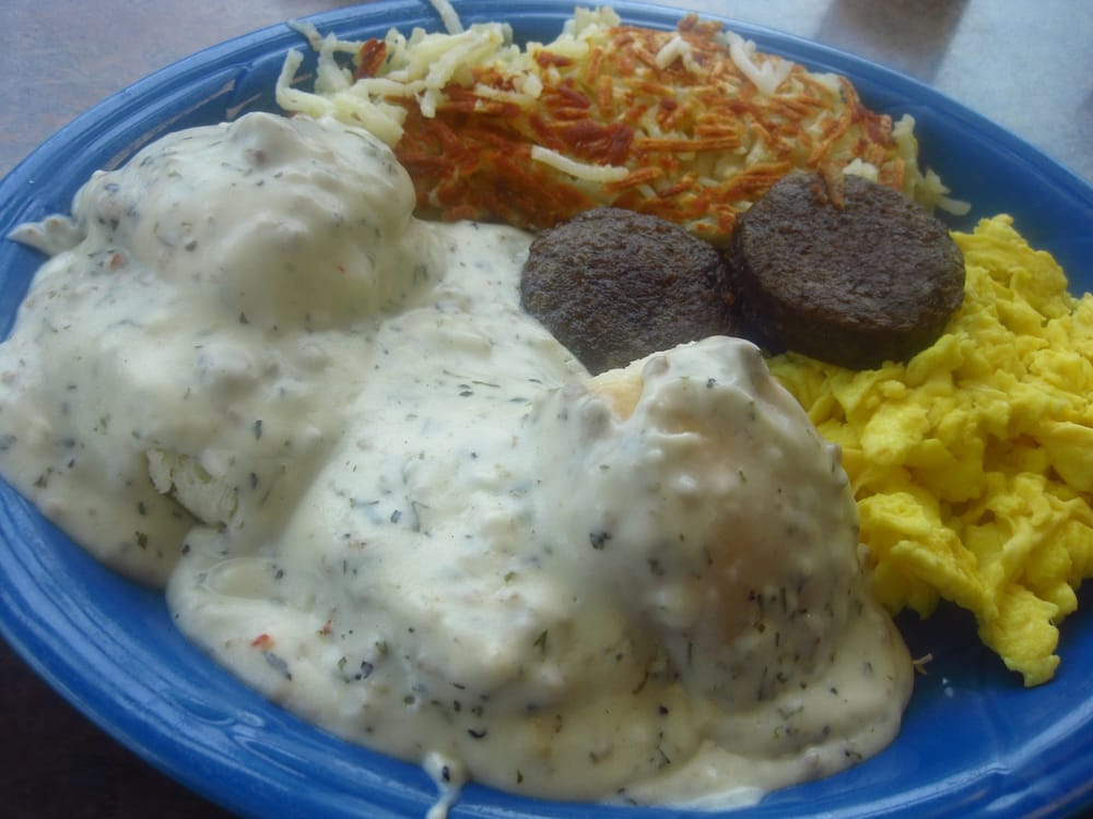 2 Biscuits & Gravy, Scrambled Eggs, Sausage Patties ...