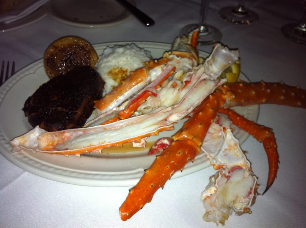 8 oz filet 3 4 lbs alaskan king crab legs yelp for Chamberlains fish market grill