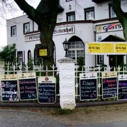 Werbung vor der Gaststätte birkenhof