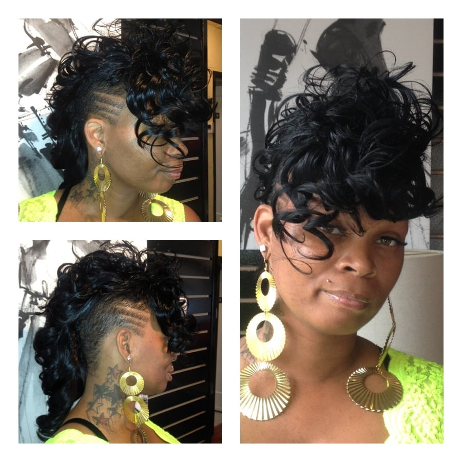 Mohawk Sew In Weave Hairstyles Full sew in mohawk hair done by kevia ...