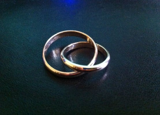 parents wedding rings linked together yelp