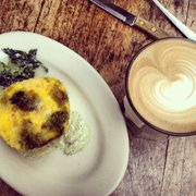Frittata and latte
