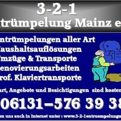 3 2 1 Entrümpelung Mainz, Mainz, Rheinland-Pfalz