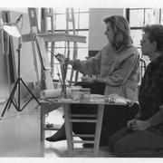 Austin Fine Art Classes - Austin, TX, États-Unis. Elizabeth Locke demonstrating brush stroke techniques