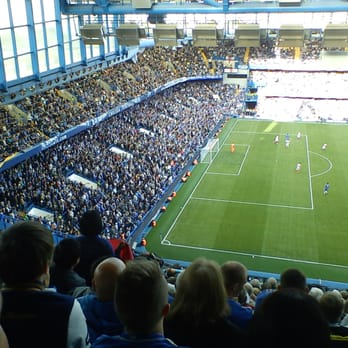 view of the matthew harding end during the chelsea vs stoke game.