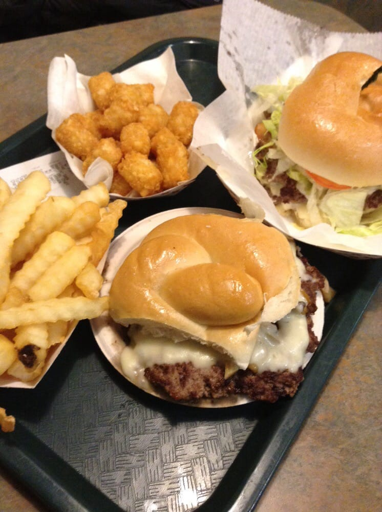 ... . Burger indulgence... Bacon double cheeseburger, and mushroom swiss