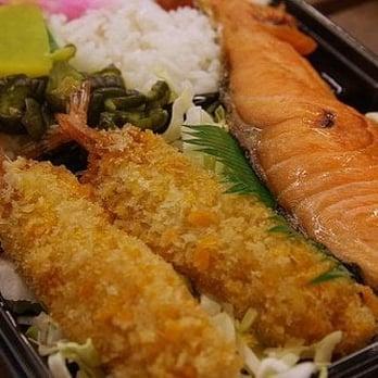 Sushi Robot Iguchi - Shrimp Tempura and Salmon Shioyaki at Sushi Robot ...