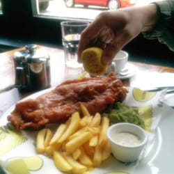 Fish and chips. Below average with…