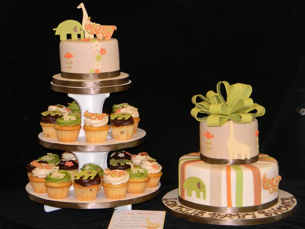 ... - Baby Shower Cake and Cupcake Tower - Kissimmee, FL, United States
