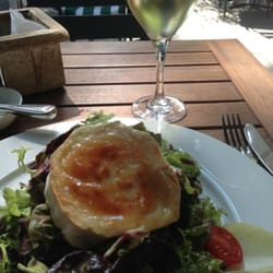 The best lunch: goat cheese salad with a…