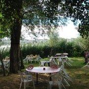 Chez Alriq la Guinguette - Bordeaux, France. jardin