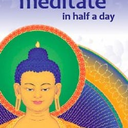 Learn to meditate in half a day course publicity