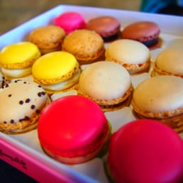 box of assorted macarons