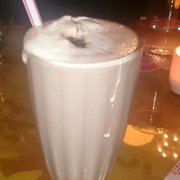 Butter & Scotch - Brooklyn, NY, États-Unis. The Rock and Rye shake,  with coffee ice cream, bourbon, whipped cream, and cherry