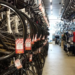 Bike Closeouts In San Jose Ca Rows and rows of bicycles