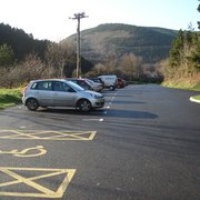 Newly surfaced car park at the southern…