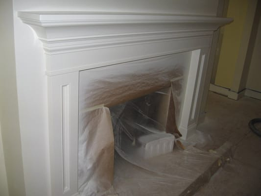 Mantle On Lvg Rm Fireplace Matches Crown Molding Yelp