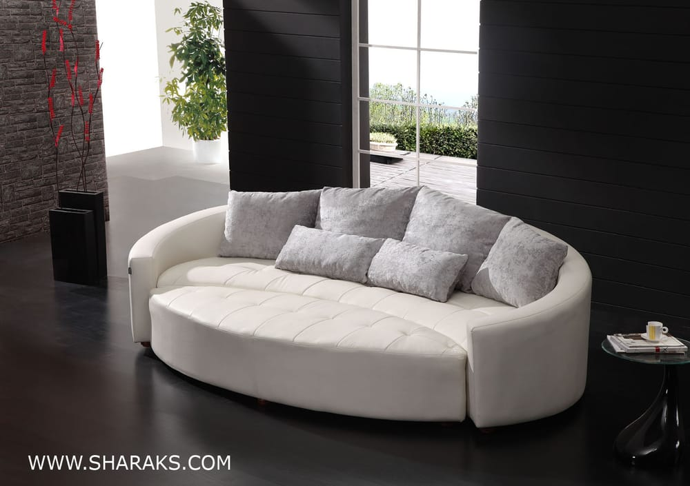 Crescent circular curved bay window sofa suite yelp for Bay window furniture