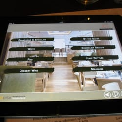 The wine list, and ordering, is on an iPad