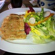 Salat mit Putenstreifen im Sesammantel…