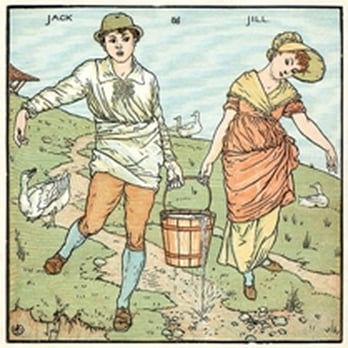 courtesy of 'There's Magic in the Nursery!' : Jack and Jill go up the hill - remember the rest?